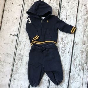 Ralph Lauren 2 Piece Hoodie Sweatpants Outfit 6M